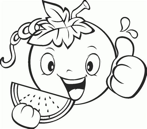 fruits  vegetables coloring pages print coloring home