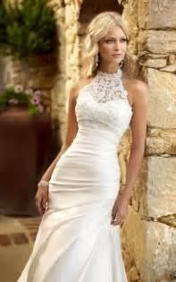 beautiful lace wedding dresses best 25 halter wedding dresses ideas on halter style wedding gowns high neckline