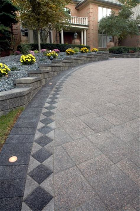 Unilock Transition Pavers by Driveway By Unilock With Series 3000 Paver Photos