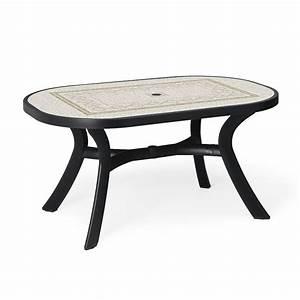 Table Jardin Design : table de jardin plastique toscana ovale zendart design ~ Melissatoandfro.com Idées de Décoration