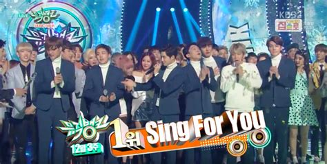 exo tempo win exo takes home 1st win with quot sing for you quot on quot music bank