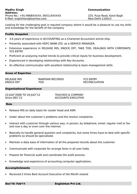 Format Of Resume by Resume Formats Resume