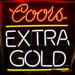 Coors Extra Gold Neon Beer Bar Sign Light