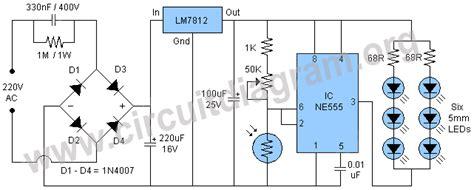 Automatic Night Light Lamp Using Circuit Diagram