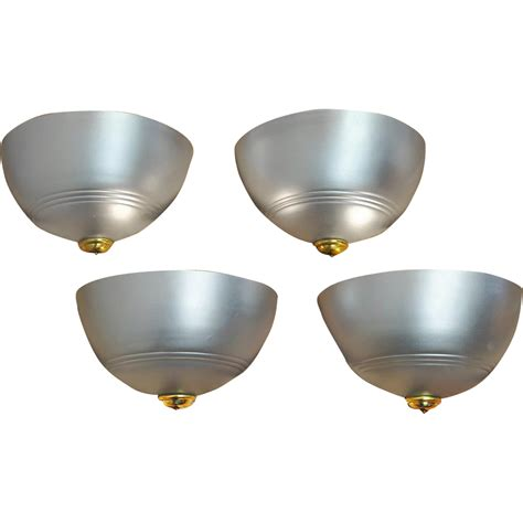 streamline deco wall sconces set of 4 modern lights