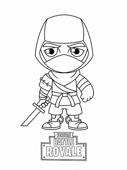 Fortnite Coloring Pages Printable Skin Lineart Sheets