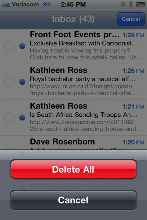 delete all emails on iphone how to delete all your mail at once on your iphone 4