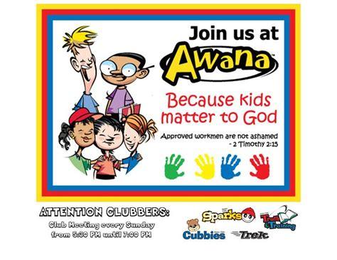 flyer  bulletin awana commander bible verse