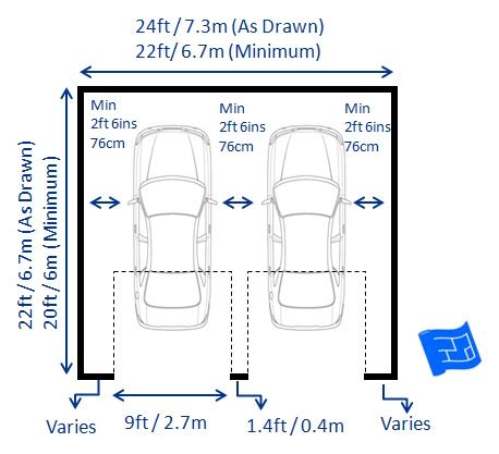 dimensions of a 2 car garage garage dimensions