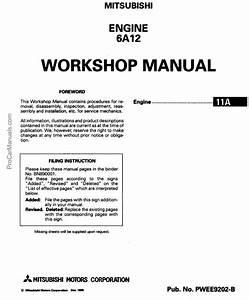 Mitsubishi Engine 6a12 Series Workshop Repair Manual