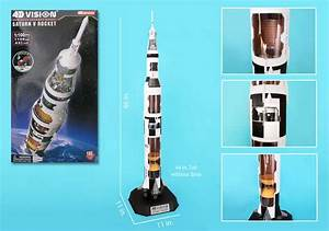 NASA - 4D Vision Cutaway Apollo Saturn V Rocket - 1/100 ...