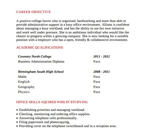 office assistant resume format pdf 28 images office