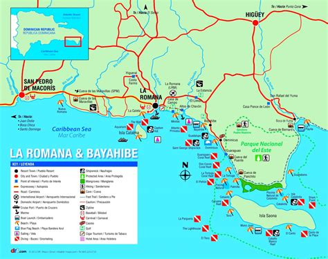 map  la romana dominican republic  travel information