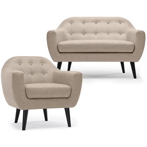 ensemble fauteuil canapé ensemble canapé et fauteuil nordique beige canape et