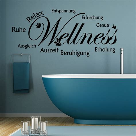 sticker citation salle de bain ruhe relax entspannung stickers citations allemand ambiance