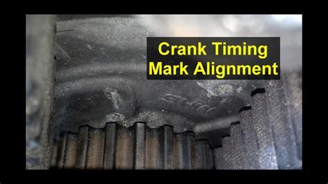 timing mark crank sprocket location volvo