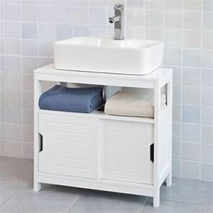 szafka bambusowa lazienkowa pod umywalke sklep With porte de douche coulissante avec but meuble sous lavabo salle de bain