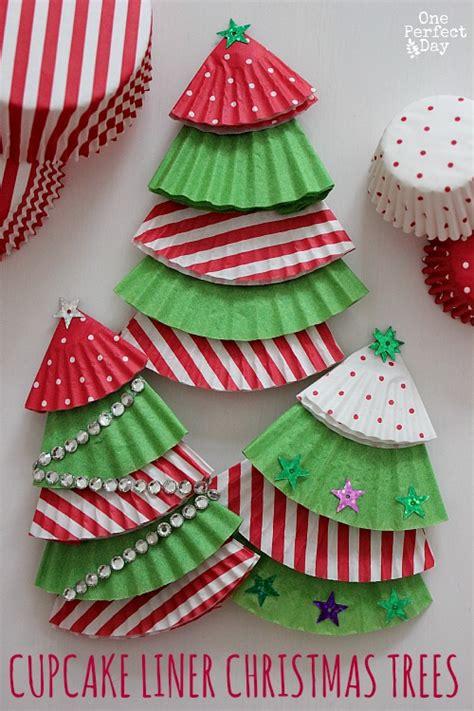cupcake liner christmas tree ornaments
