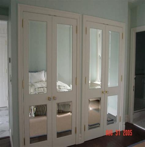 custom beveled mirror door inserts room