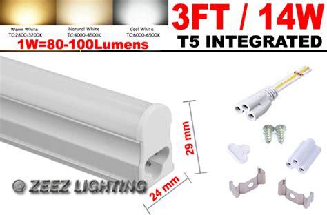 4x t5 integrated 3ft 14w cool white led light bulb 3