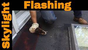 How to properly fix skylight flashing on a flat roof in ...  Flashing
