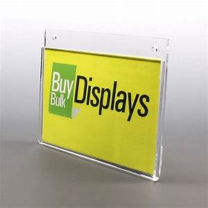 Folded Wall Mount Acrylic Sign Holders – Buy Bulk Displays