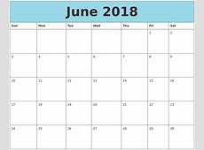 June 2018 Calendar Free Templates Archives Wishes