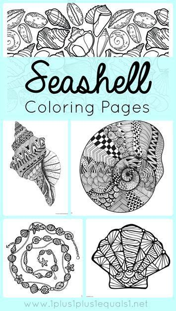 seashell coloring pages summer activities for kids