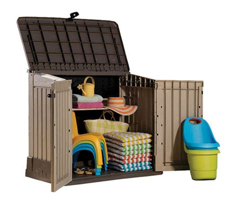 Keter Storage Shed Menards by Keter 174 Woodland Store It Out Midi Horizontal Storage Unit