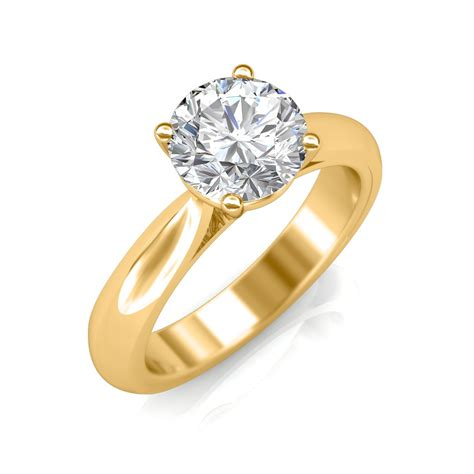 1 00 carat 18k yellow gold classic engagement ring engagement rings at best prices in india