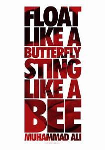 Muhammad Ali Leinwand : float like a butterfly sting like a bee muhammad ali poster leinwand ~ Whattoseeinmadrid.com Haus und Dekorationen