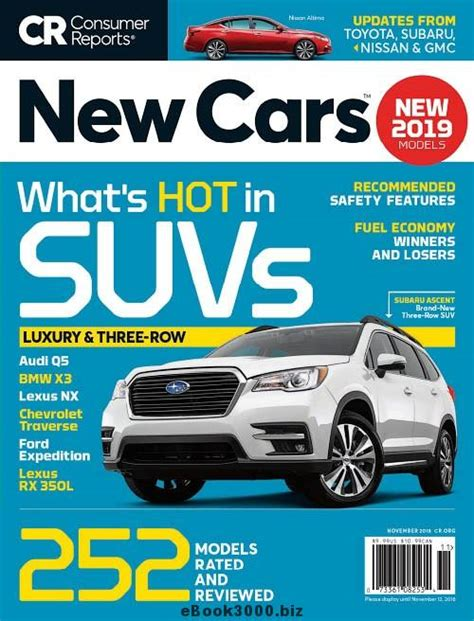 Consumer Reports Car Buying by Consumer Reports New Cars November 2018 Free Pdf