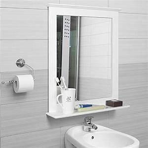 Spiegel Mit Ablage Holz : homfa 50x60cm wandspiegel badspiegel mit ablage h ngespigel spiegel f r badezimmer wohnzimmer ~ Bigdaddyawards.com Haus und Dekorationen