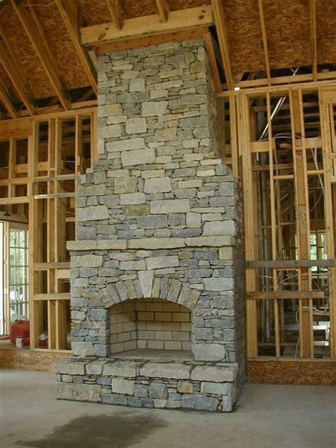 dry stack stone fireplace arch rustic fireplaces