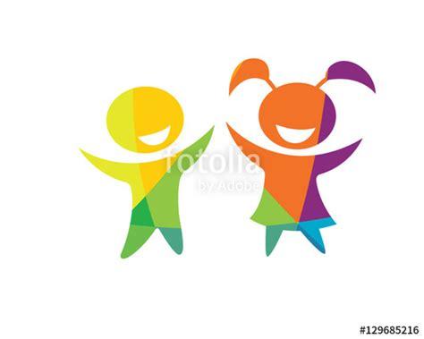 """Modern Children Education Logo  Happy Kids Education"