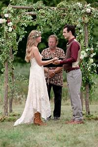 Picture Of Rustic Boho Chic Wedding With Wild Flowers