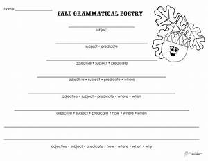 grammatical poetry fall squarehead teachers With poetry templates for kids