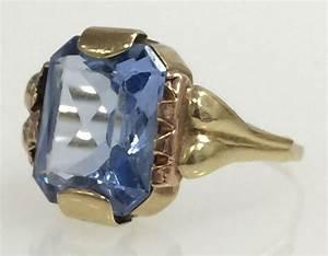 Bague Avec Pierre Bleu : bague en or avec pierre bleu clair transparente catawiki ~ Melissatoandfro.com Idées de Décoration