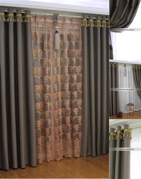 Gray And Brown Curtains  Home Ideas