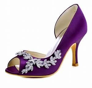 1542 purple peep toe high heel wedding party dress shoes With dress shoes for wedding party