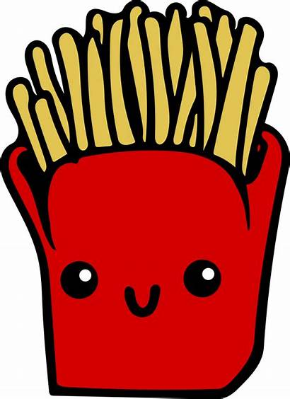 Kawaii Fries Colour Clip Onlinelabels Svg