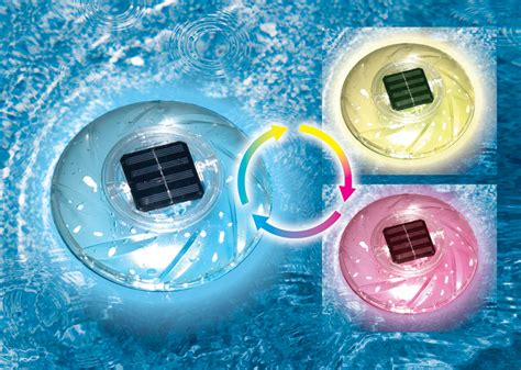 floating solar color changing pool lights poolsupplies