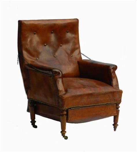 leather club chair reclining armchair recliner