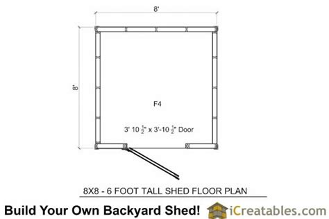 8x8 shed floor plans 8x8 backyard 6 foot homeowners association compliant