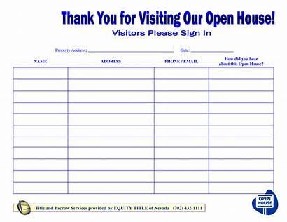 Sheet Sign Open Visitors Template Unique Templates