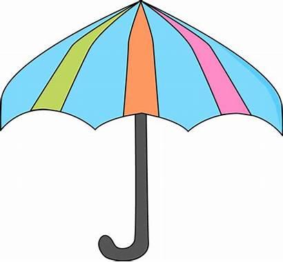 Umbrella Clipart Clip Colorful Spring Cartoon Transparent