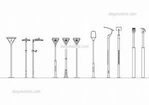 Street lighting dwg free cad blocks download