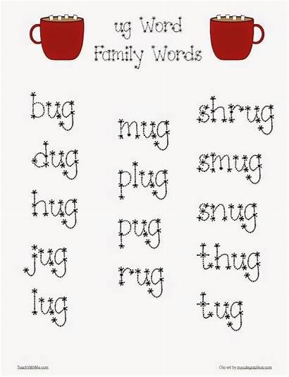 Ug Word Words Families Mug Packet Classroom
