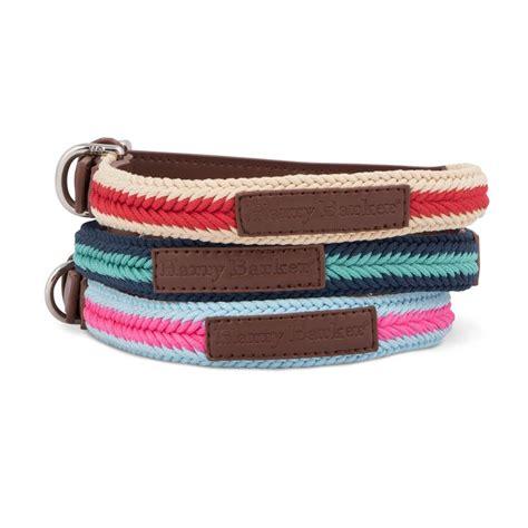 Harry Barker Medium Teal & Dark Blue Braided Rope Dog Collar