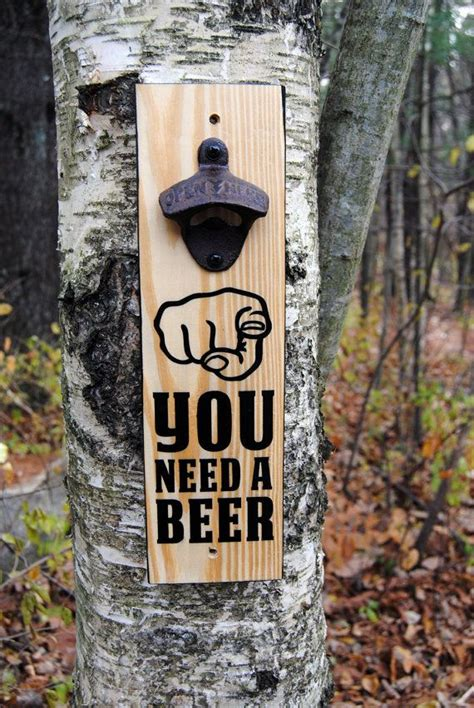 wall mounted bottle opener sign
